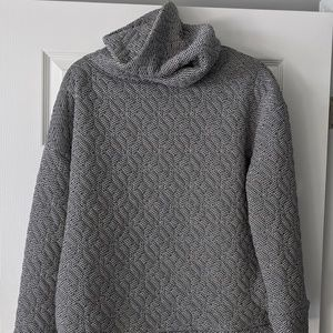 Gap Fit Jacquard Knit Funnel-Neck Pullover